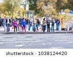 new york city  usa   october 28 ... | Shutterstock . vector #1038124420