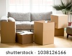 cardboard carton boxes with... | Shutterstock . vector #1038126166