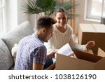 young man holding book helping... | Shutterstock . vector #1038126190