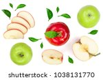 Red And Green Apples With...