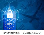Small photo of Padlock over smartphone and EU flag inside mobile phone and EU map, symbolizing the EU General Data Protection Regulation or GDPR. Designed to harmonize data privacy laws across Europe.