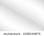 abstract halftone wave dotted... | Shutterstock .eps vector #1038144874