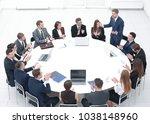 business people applauding... | Shutterstock . vector #1038148960