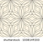 seamless flower pattern on... | Shutterstock .eps vector #1038149203