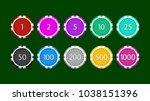 poker chips set on green | Shutterstock .eps vector #1038151396