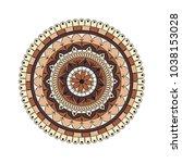 flower mandala. vintage...   Shutterstock .eps vector #1038153028