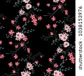 little floral seamless pattern... | Shutterstock .eps vector #1038153976