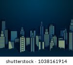 paper skyscrapers. achitectural ... | Shutterstock .eps vector #1038161914