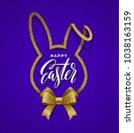 easter greeting card. cut from... | Shutterstock .eps vector #1038163159