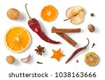 Spices Isolated On White...