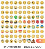 big set of emoticons with... | Shutterstock .eps vector #1038167200