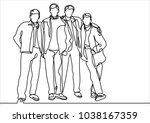 continuous line drawing of... | Shutterstock .eps vector #1038167359