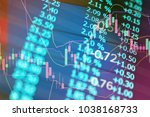stock market data on digital... | Shutterstock . vector #1038168733