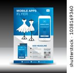mobile apps flyer template for...