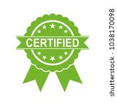 certified medal icon. approved... | Shutterstock .eps vector #1038170098