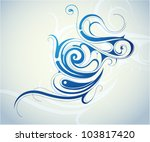 decorative abstraction with... | Shutterstock .eps vector #103817420