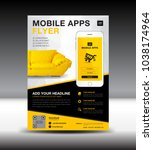 mobile apps flyer template....