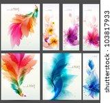 floral  elements background.... | Shutterstock .eps vector #103817933