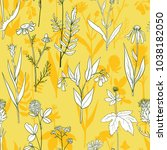 vector seamless pattern with... | Shutterstock .eps vector #1038182050