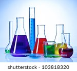 Chemical Glassware With Colore...