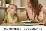 upset impatient mother making... | Shutterstock . vector #1038183448