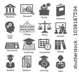 icons set for education  career ...   Shutterstock .eps vector #1038187534