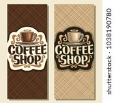 vector vertical banners for... | Shutterstock .eps vector #1038190780