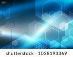 abstract blue technology... | Shutterstock .eps vector #1038193369