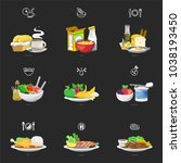 meals of people who should eat... | Shutterstock .eps vector #1038193450