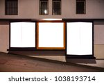 ad space for store in city | Shutterstock . vector #1038193714