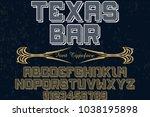 font alphabet typeface... | Shutterstock .eps vector #1038195898