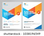 geometry colorful brochure... | Shutterstock .eps vector #1038196549