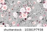 seamless pattern with spring... | Shutterstock . vector #1038197938