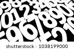 background of numbers. from... | Shutterstock . vector #1038199000