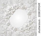 beautiful tender round frame... | Shutterstock .eps vector #1038199249