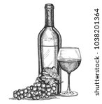 vector illustration of a wine... | Shutterstock .eps vector #1038201364