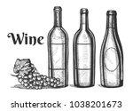 vector illustration of a wine...   Shutterstock .eps vector #1038201673