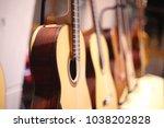closeup of acoustic guitar...   Shutterstock . vector #1038202828