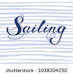sea vector print for female t... | Shutterstock .eps vector #1038204250