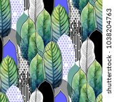 vector seamless pattern of... | Shutterstock .eps vector #1038204763