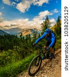 tourist cycling in cortina d... | Shutterstock . vector #1038205129