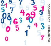 falling colorful numbers on... | Shutterstock .eps vector #1038209020
