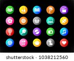vector leisure hobby and... | Shutterstock .eps vector #1038212560