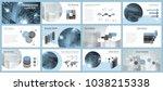 business presentation templates.... | Shutterstock .eps vector #1038215338