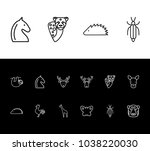 zoo icon set and butterfly with ...