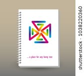 vector cover of diary or... | Shutterstock .eps vector #1038220360
