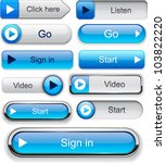 Play Blue Web Buttons For...