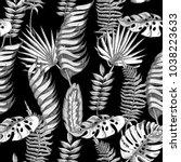 seamless vector floral summer... | Shutterstock .eps vector #1038223633