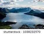 beautiful view from the famous... | Shutterstock . vector #1038232570