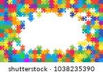 puzzle background  banner ... | Shutterstock .eps vector #1038235390